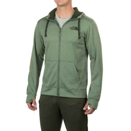 The North Face Surgent LFC Hoodie - Full Zip (For Men) in Duck Green Light Heather (Std)/Rosin Green - Closeouts