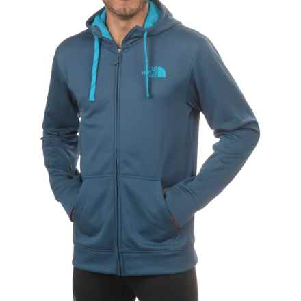 The North Face Surgent LFC Hoodie - Full Zip (For Men) in Shady Blue/Blue Aster - Closeouts
