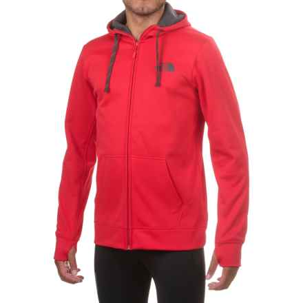 The North Face Surgent LFC Hoodie - Full Zip (For Men) in Tnf Red/Asphalt - Closeouts