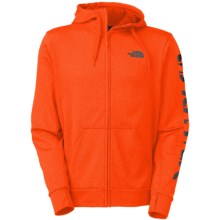 The North Face Surgent Linear Sleeve Hoodie - Full Zip (For Men) in Persian Orange Heather - Closeouts