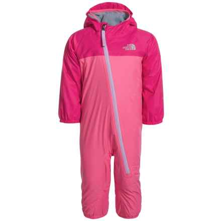 The North Face Tailout Triclimate® One-Piece Bodysuit - Waterproof (For Infants) in Cha Cha Pink - Closeouts