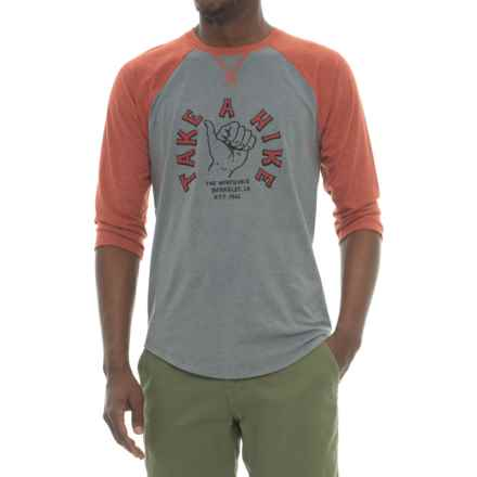 The North Face Take a Hike Shirt - 3/4 Sleeve (For Men) in Tnf Medium Grey Heather/Ketchup Red Heather - Closeouts