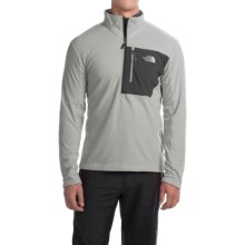 The North Face Tech 100 Fleece Pullover Shirt - Zip Neck, Long Sleeve (For Men) in High Rise Grey/Asphalt Grey - Closeouts