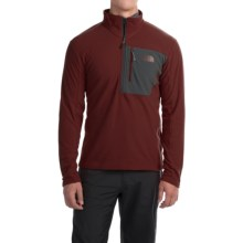 The North Face Tech 100 Fleece Pullover Shirt - Zip Neck, Long Sleeve (For Men) in Sequoia Red/Asphalt Grey - Closeouts