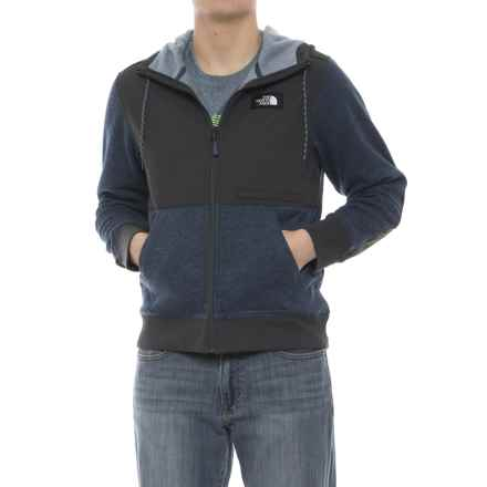 The North Face Tech Sherpa Hoodie (For Men) in Shady Blue Heather - Closeouts