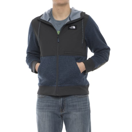 The North Face Tech Sherpa Hoodie (For Men) in Shady Blue Heather