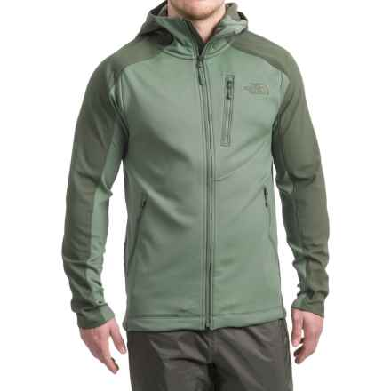 The North Face Tenacious Hybrid Hooded Jacket - Full Zip (For Men) in Duck Green/Climbing Green Ivy - Closeouts