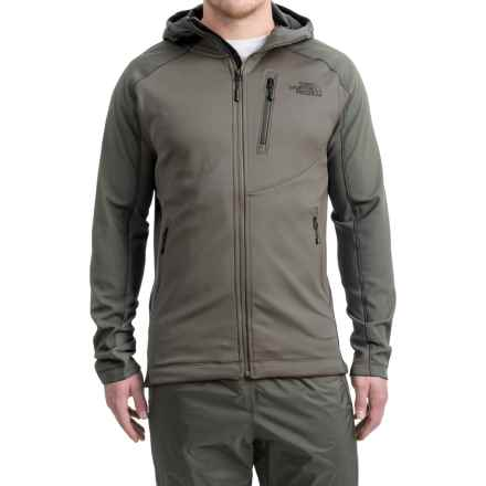 The North Face Tenacious Hybrid Hooded Jacket - Full Zip (For Men) in Moon Mist Grey/Fuse Box Grey - Closeouts