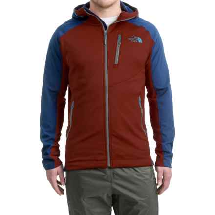 The North Face Tenacious Hybrid Hooded Jacket - Full Zip (For Men) in Sequoia Red/Shady Blue - Closeouts