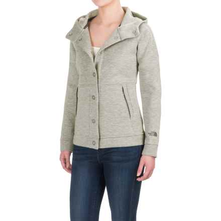 The North Face Thermal 3D® Snap-Front Hoodie (For Women) in Tnf Light Grey Heather - Closeouts