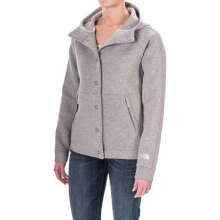 The North Face Thermal 3D® Snap-Front Hoodie (For Women) in Tnf Oatmeal Heather - Closeouts