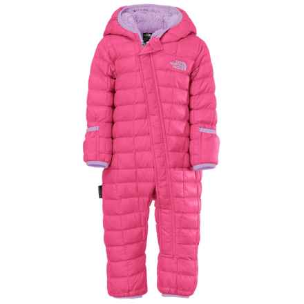 The North Face ThermoBall® Bunting - Insulated, Fleece Lined (For Infants) in Cha Cha Pink - Closeouts