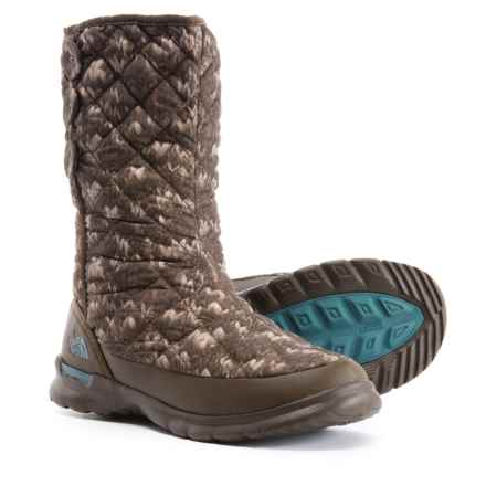 The North Face ThermoBall® Button-Up Snow Boots - Insulated (For Women) in Stcknswp/Tpstrb - Closeouts