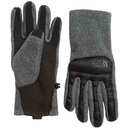 The North Face ThermoBall® Etip® Gloves - Insulated, Touchscreen Compatible (For Men) in Charcoal Grey Heather/Tnf Black - Closeouts