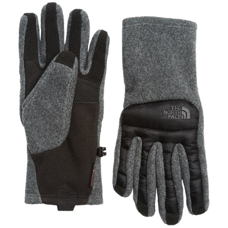 The North Face ThermoBall® Etip® Gloves - Insulated, Touchscreen Compatible (For Men) in Charcoal Grey Heather/Tnf Black
