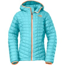 The North Face ThermoBall® Hooded Jacket - Insulated (For Little and Big Kids) in Fortuna Blue - Closeouts