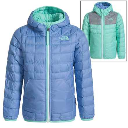 The North Face Thermoball Hooded Jacket - Insulated, Reversible (For Toddlers) in Grapemist Blue - Closeouts
