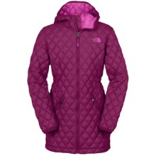 The North Face Thermoball Hooded Parka - Insulated (For Little and Big Girls) in Dramatic Plum - Closeouts