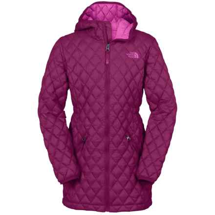 The North Face ThermoBall® Hooded Parka - Insulated (For Little and Big Girls) in Dramatic Plum - Closeouts