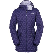 The North Face Thermoball Hooded Parka - Insulated (For Little and Big Girls) in Garnet Purple - Closeouts
