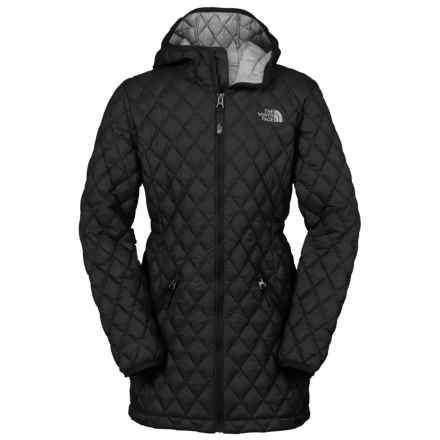 The North Face ThermoBall® Hooded Parka - Insulated (For Little and Big Girls) in Tnf Black - Closeouts