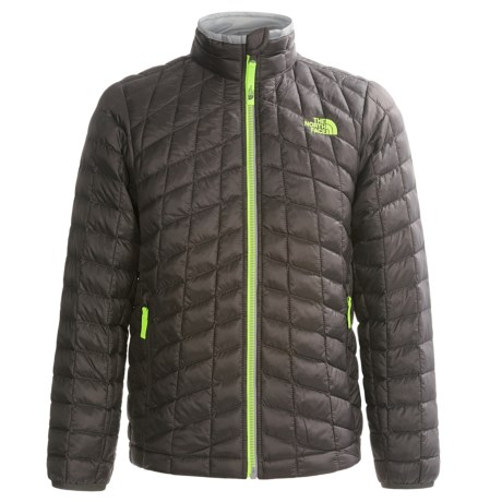 The North Face ThermoBall® Jacket (For Little and Big Boys) in Graphite Grey/Lime/Grey