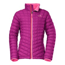 The North Face Thermoball Jacket - Insulated (For Little and Big Girls) in Luminous Pink - Closeouts