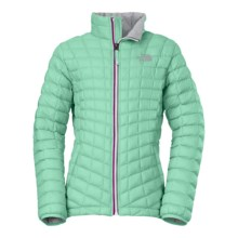 The North Face ThermoBall® Jacket - Insulated (For Little and Big Girls) in Surf Green - Closeouts