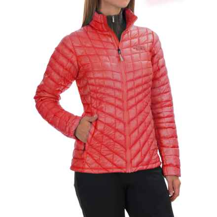 The North Face ThermoBall® Jacket - Insulated (For Women) in Melon Red - Closeouts