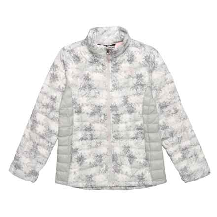 The North Face Thermoball Jacket - Insulated, Full Zip (For Big Girls) in The North Face Snowflake Fair Isle Print - Closeouts