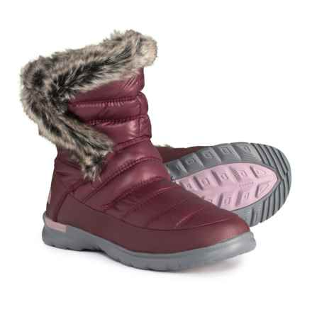The North Face ThermoBall® Microbaffle Bootsie II Snow Boots - Insulated (For Women) in Shiny Deep Garnet Red/Quail Grey - Closeouts