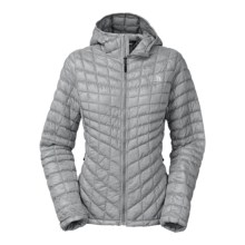 The North Face Thermoball PrimaLoft® Hooded Jacket - Insulated (For Women) in High Rise Grey - Closeouts