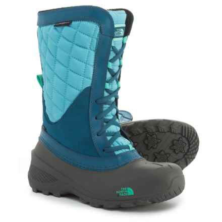 The North Face ThermoBall® Shellista Pac Boots - Waterproof, Insulated (For Little and Big Kids) in Blizzard Blue/Bermuda Green - Closeouts