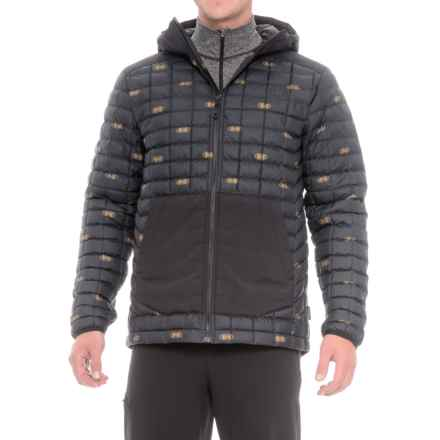 The North Face ThermoBall® Snow Jacket - Insulated (For Men) in Tnf Black Double Vision Print - Closeouts