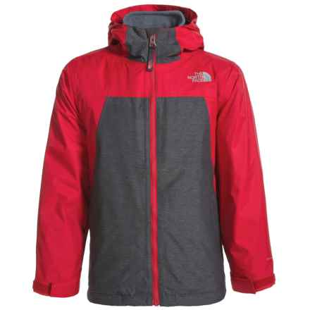 The North Face ThermoBall® Triclimate® Jacket - Waterproof, Insulated, 3-in-1 (For Little and Big Boys) in Tnf Red - Closeouts