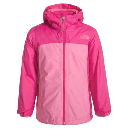 The North Face ThermoBall® TriClimate® Jacket - Waterproof, Insulated, 3-in-1 (For Little and Big Girls) in Cha Cha Pink Heather - Closeouts