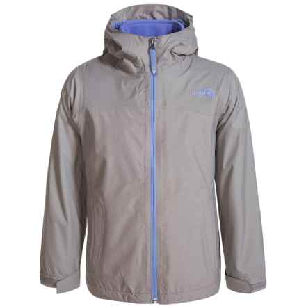 The North Face ThermoBall® TriClimate® Jacket - Waterproof, Insulated, 3-in-1 (For Little and Big Girls) in Metallic Sliver Heather - Closeouts