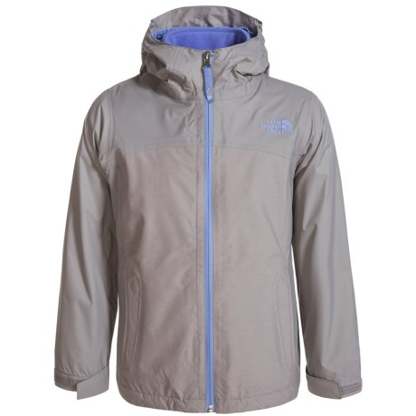 The North Face ThermoBall® TriClimate® Jacket - Waterproof, Insulated, 3-in-1 (For Little and Big Girls) in Metallic Sliver Heather
