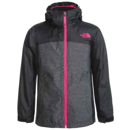 The North Face ThermoBall® TriClimate® Jacket - Waterproof, Insulated, 3-in-1 (For Little and Big Girls) in Tnf Black Heather - Closeouts