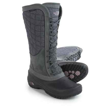 The North Face ThermoBall® Utility Pac Boots - Waterproof, Insulated (For Women) in Iron Gate Grey/Quail Grey - Closeouts