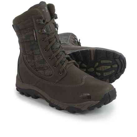 The North Face ThermoBall® Utility Winter Boots - Waterproof, Insulated (For Men) in Weimaraner Brown/Casper Berry Green - Closeouts