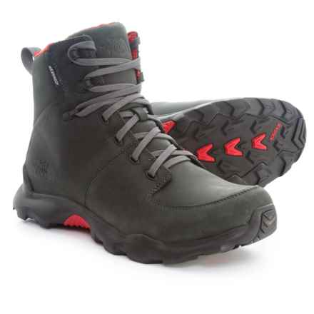 The North Face ThermoBall® Versa Boots - Waterproof, Insulated (For Men) in Dark Shadow Grey/Tnf Red - Closeouts