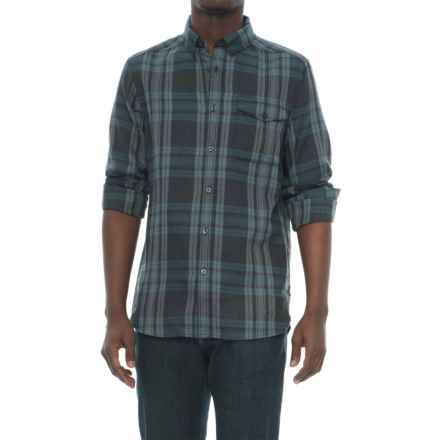 The North Face Thermocore Twill Shirt - Long Sleeve (For Men) in Asphalt Grey Plaid - Closeouts