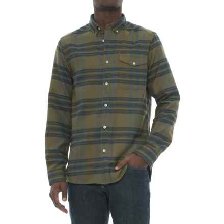The North Face Thermocore Twill Shirt - Long Sleeve (For Men) in Burnt Olive Green Plaid - Closeouts