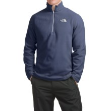 The North Face TKA 100 Glacier Fleece Jacket - Zip Neck (For Men) in Cosmic Blue/Tnf White - Closeouts