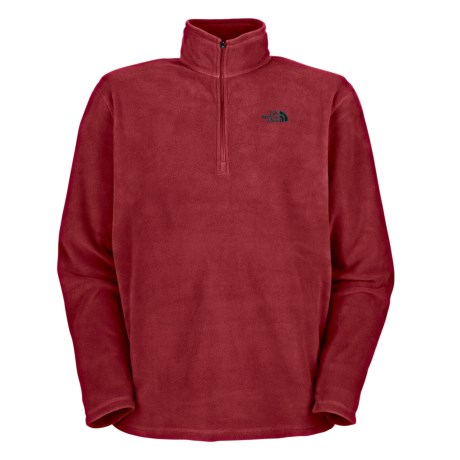The North Face TKA 100 Glacier Fleece Shirt - Zip Neck, Long Sleeve (For Men) in Tnf Red