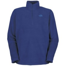 The North Face TKA 100 Glacier Zipneck Shirt (For Men) in Bolt Blue - Closeouts