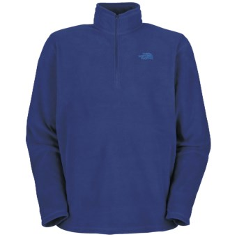 The North Face TKA 100 Glacier Zipneck Shirt (For Men) in Bolt Blue