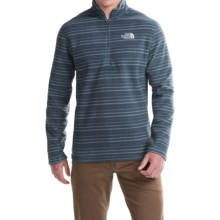 The North Face TKA 100 Novelty Glacier Fleece Jacket - Zip Neck (For Men) in Conquer Blue Stripe - Closeouts