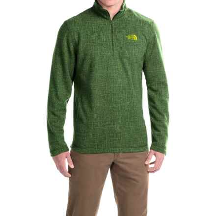 The North Face TKA 100 Novelty Glacier Fleece Jacket - Zip Neck (For Men) in Scallion Green Lattice Print - Closeouts